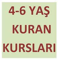 4-6 YAŞ KURAN KURSLARI