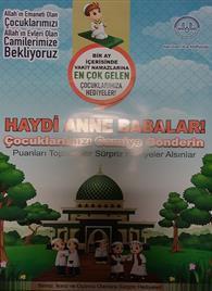 Camiye Gelen Çocuklara Hediye Verildiğini Gösterir Afişimiz