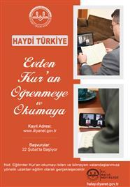 Haydi Türkiye Evden Kur'an Öğrenmeye ve Okumaya