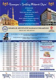 Isparta İli 2021 Yılı Ramazan İmsakiyesi