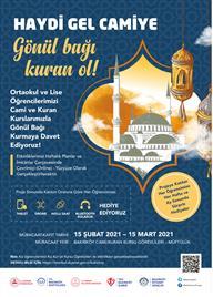 Haydi Gel Camiye Gönül Bağı Kuran Ol!