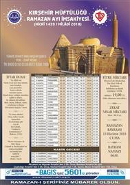 2018 ramazan imsakiyesi