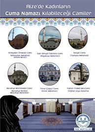 Rize'de kadınların Cuma namazı kılabileceği camiler