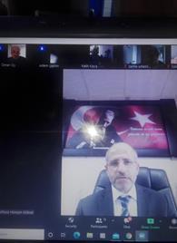 İlçe Müftümüz Sn. Hüseyin KÖKSAL Personelimiz ile Online Toplantıda Buluştu